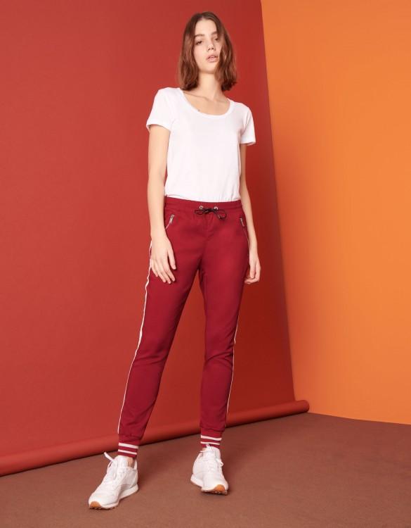 Street trousers Elis - GROSEILLE