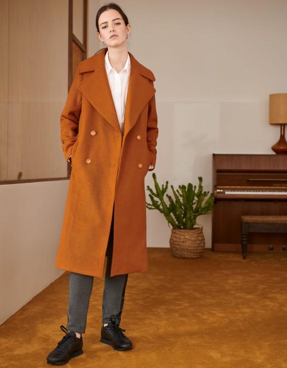 Coat Mael Color - CARAMEL