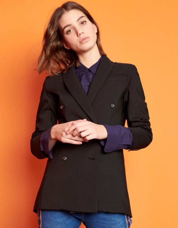Blazer jacket Basil Color - BLACK