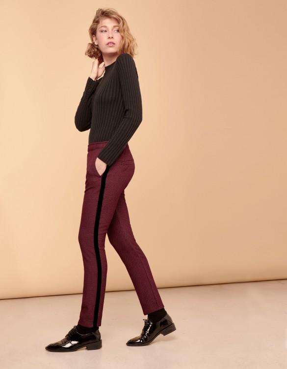 Street trousers Elvin Fancy - PLUM CHEVRON