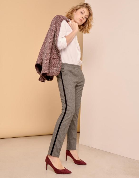 Street trousers Elvin Fancy - STEEL CHEVRON