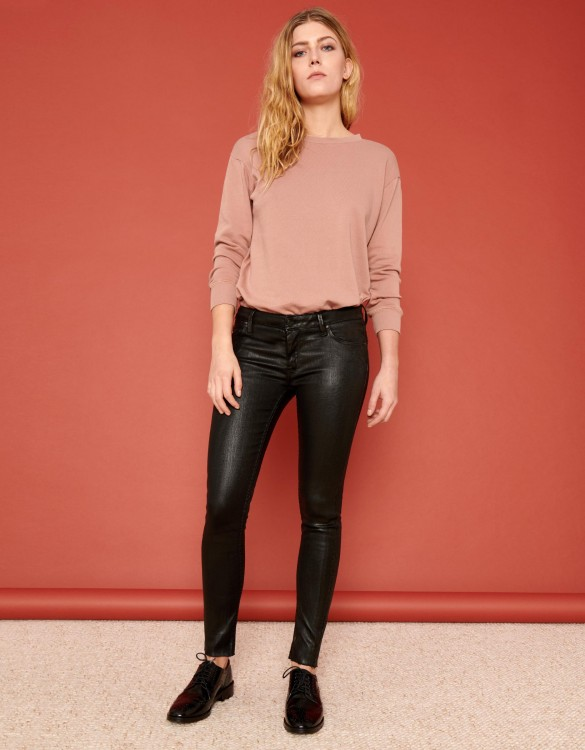 Jean skinny cropped Lily Enduction - BLACK
