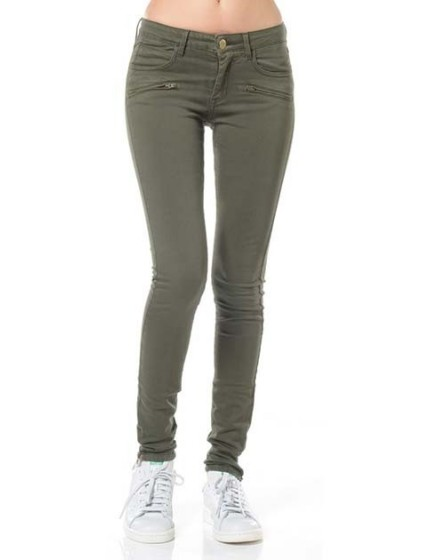Skinny zip color