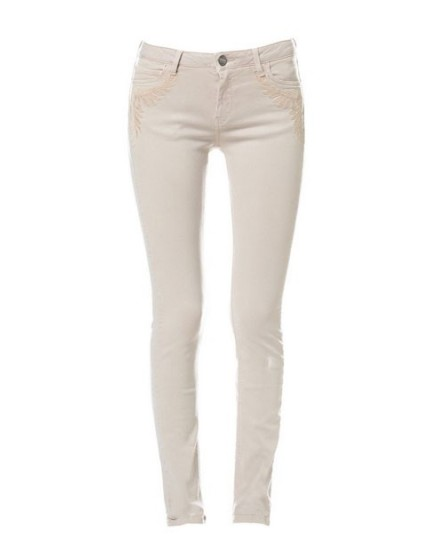 embroidered skinny