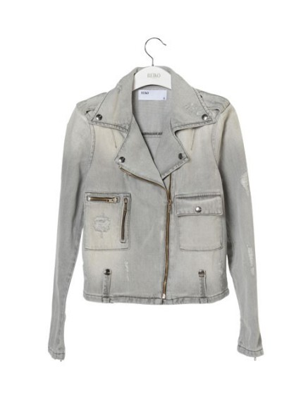 Reiko perf en jeans gris