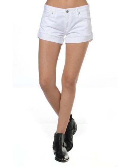 Reiko short en jeans 3 couleurs - BLANC