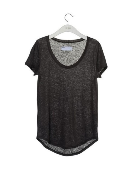 Reiko linen T-shirt - CARBONE