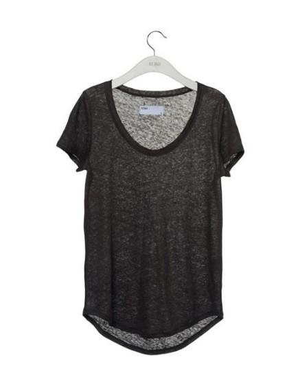 Reiko T-shirt lin - CARBONE