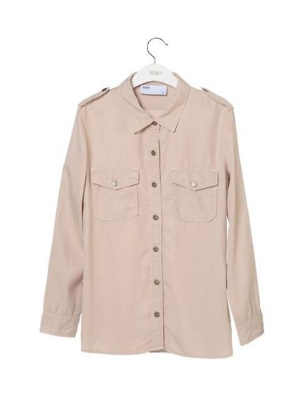 Reiko oversize color shirt  - SKIN