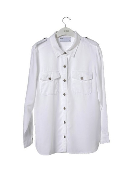 Reiko oversize color shirt  - WHITE