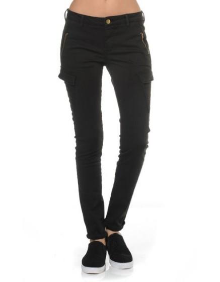 Reiko skinny poches cargo - BLACK