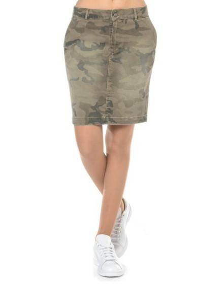 REIKO Kayne camouflage printed skirt