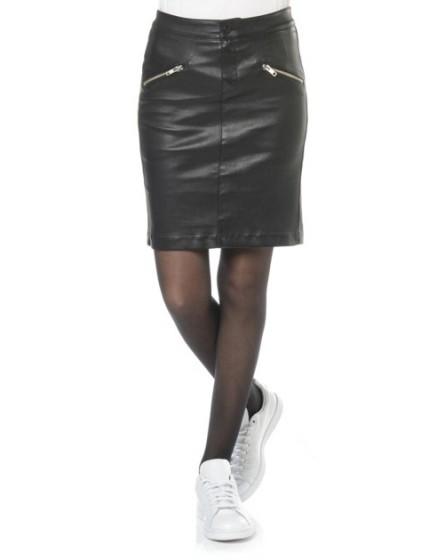 REIKO Jaya leather skirt