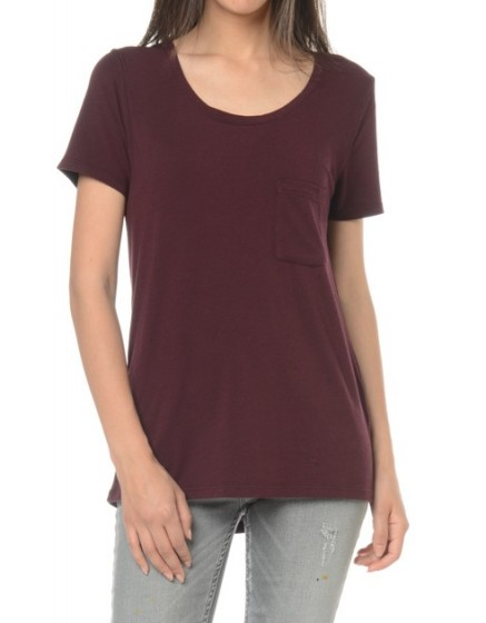 REIKO T-shirt uni Bardot