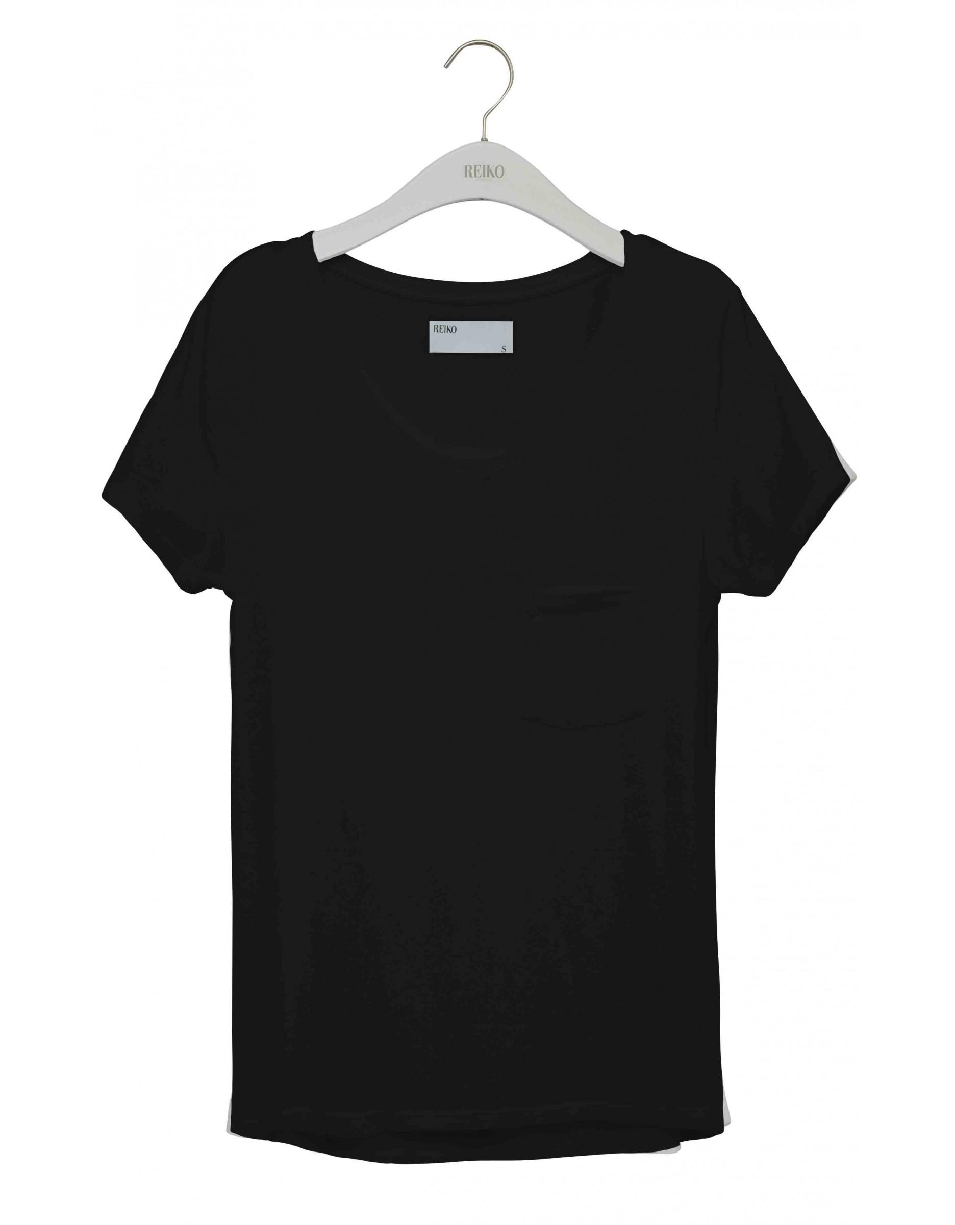 REIKO Bardot plain T-shirt - black - Reiko Jeans