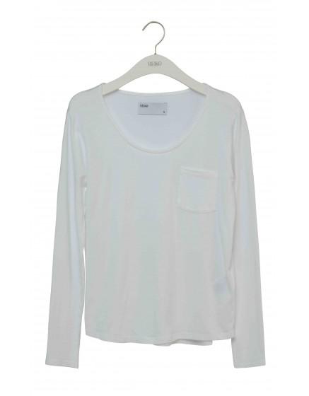 REIKO T-Shirt uni Bahia - WHITE