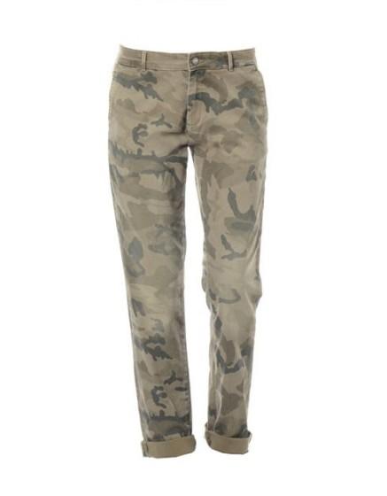 REIKO Pantalon chino printé Sandy