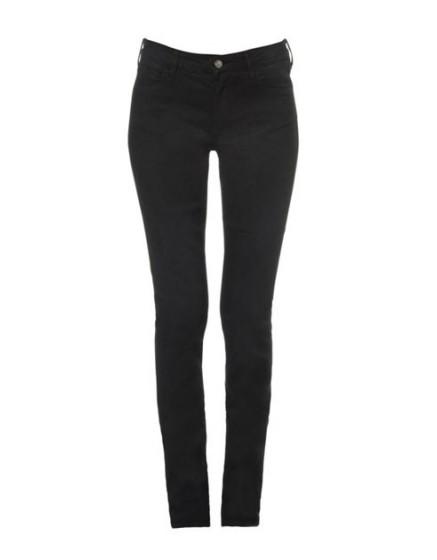REIKO Pantalon slim couleur Tero - BLACK