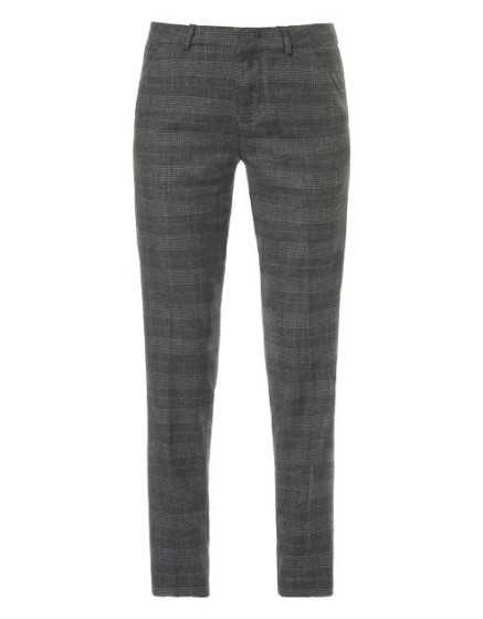 REIKO Cigarette Check wool trousers