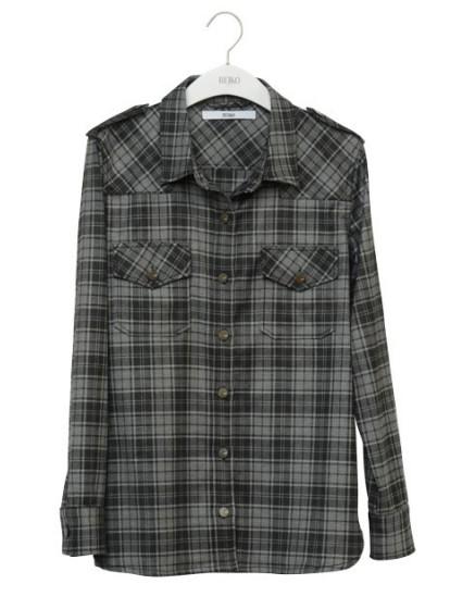 REIKO Claryss Shirt - carreaux gris