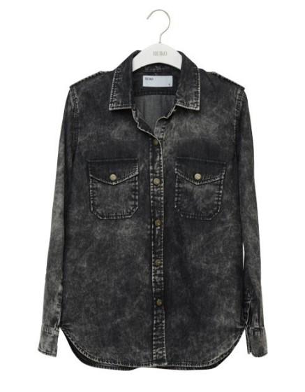 REIKO Claryss Shirt - snow black