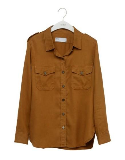 REIKO Claryss Color loose Shirt - CANNELLE