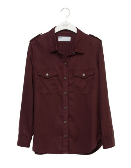 REIKO Claryss Color loose Shirt - PRUNE