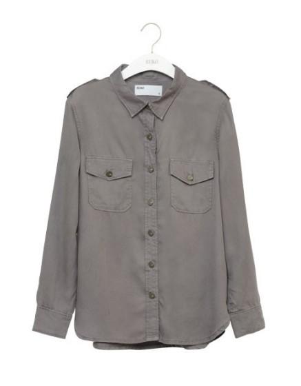 REIKO Claryss Color loose Shirt - TITANE