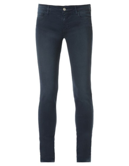 REIKO Tero color slim Trousers - NAVY