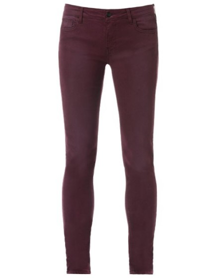 REIKO Tero color slim Trousers - PRUNE