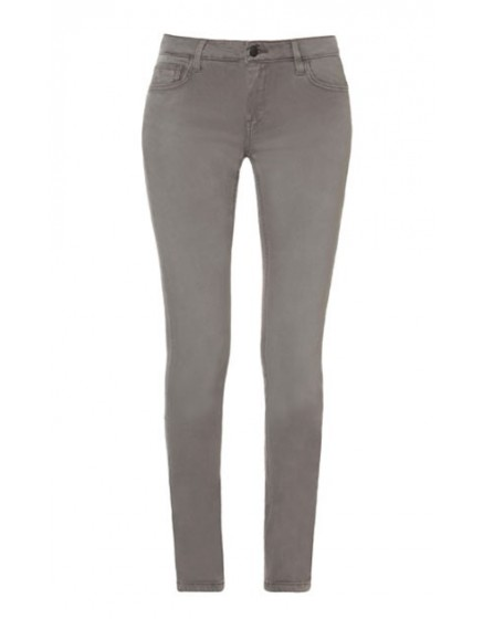 REIKO Tero color slim Trousers - TITANE