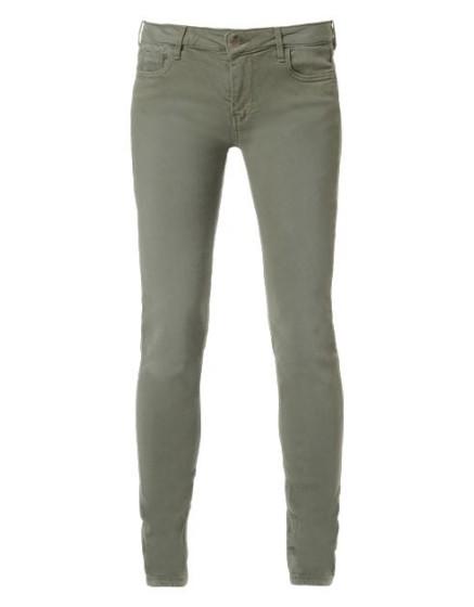 REIKO Pantalon slim couleur Tero - KAKI