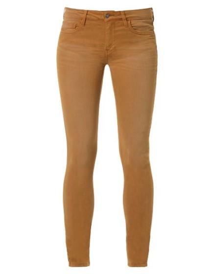 REIKO Pantalon skinny couleur Noémie - CANNELLE