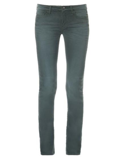REIKO Pantalon skinny couleur Noémie - EPINARD