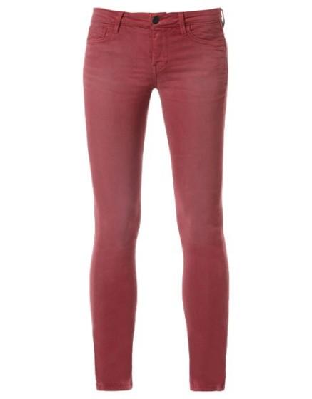 REIKO Noemie colored skinny trousers - grenat