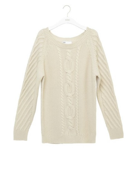 REIKO Maya twisted knit Jumper - off-white