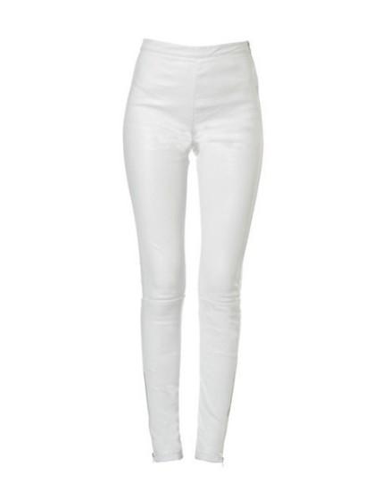 REIKO Legging en cuir Naya Zip - WHITE