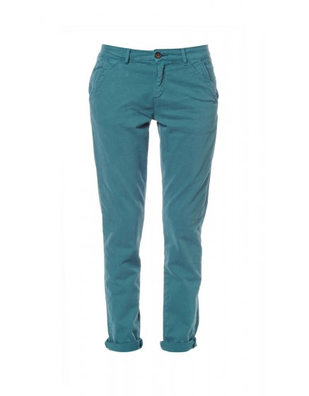 Sandy peach skin chino trousers - bleu-canard-pat-