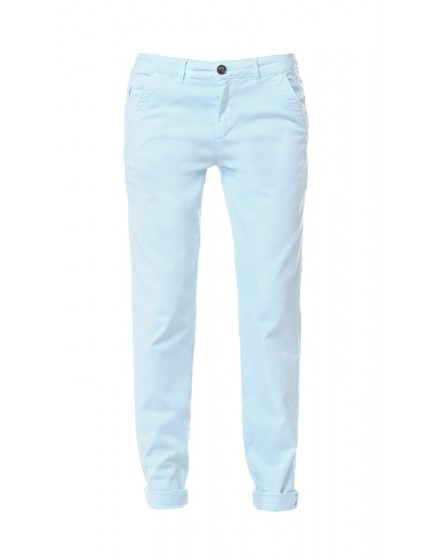 Pantalon chino basic Sandy - BLEU-LAGON