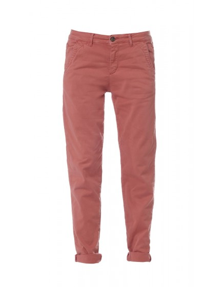 Pantalon chino basic Sandy - OCRE-ROUGE