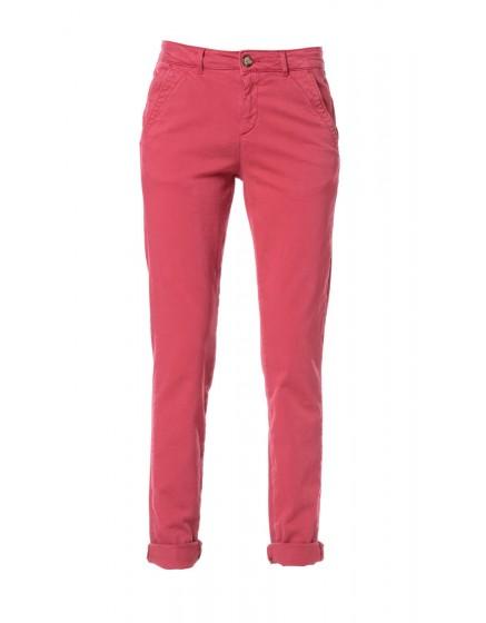 Pantalon chino toile teintée - PIMENT
