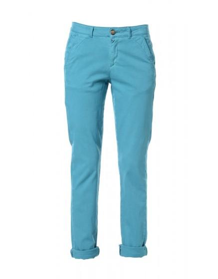 Pantalon chino toile teintée - VERT-PAON
