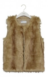 REIKO Kalia fake fur sleeveless Jacket