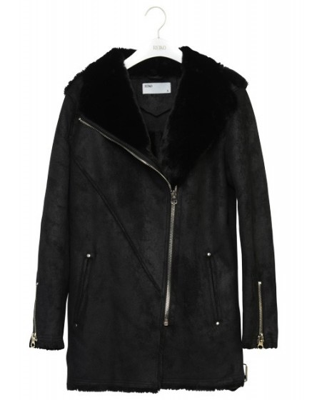 REIKO Perlie mid long zipped Coat