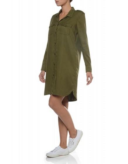 REIKO Clara color Tunic - vert-militaire