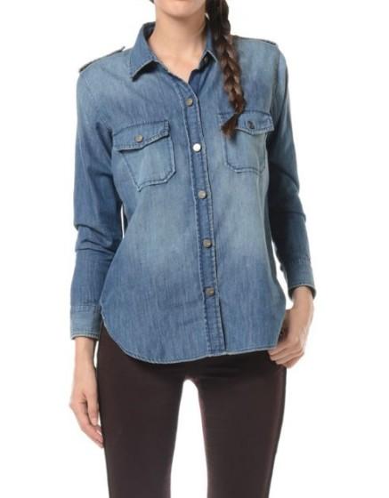 REIKO Claryss Shirt - blue