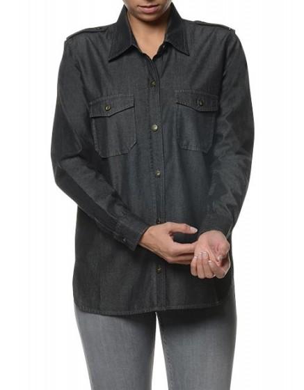REIKO Claryss Shirt - black-denim