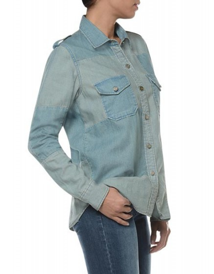 REIKO Claryss Shirt - denim-patch