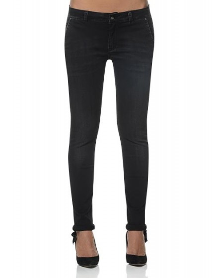 REIKO Jeans Tapered Lindsay - BLACK-DENIM