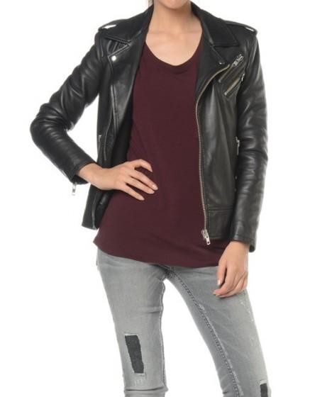 REIKO Pipper leather perfecto jacket